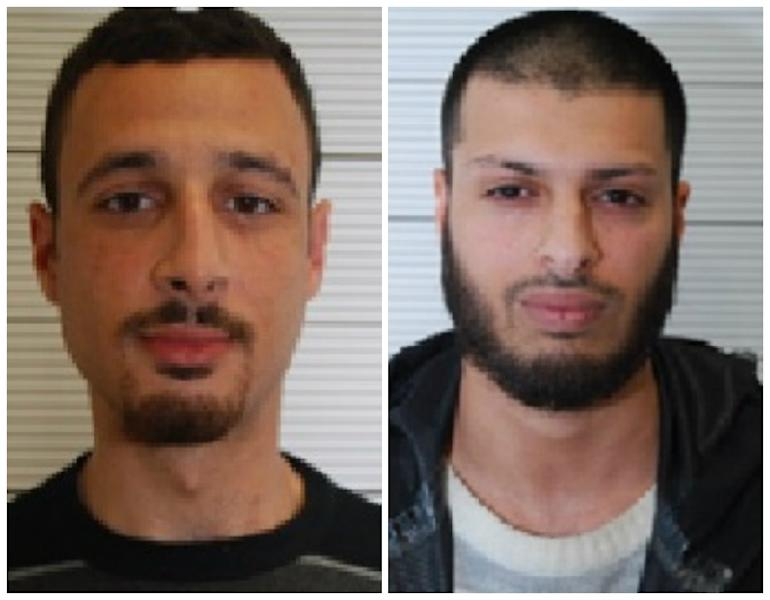 Zakaria Boufassil (left) received a three-year jail sentence while Mohamed Ali Ahmed (right) was given an eight-year term for helping Brussels and Paris terror suspect Mohamed Abrini (AFP Photo/)