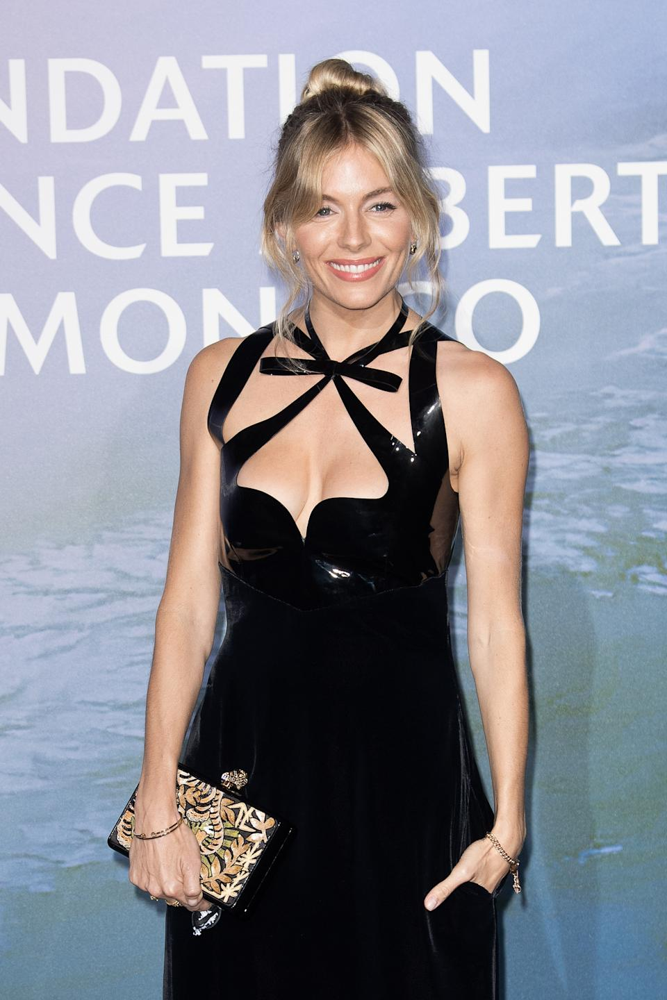 Sienna Miller attends the Monte-Carlo Gala For Planetary Health on September 24, 2020 in Monte-Carlo, Monaco