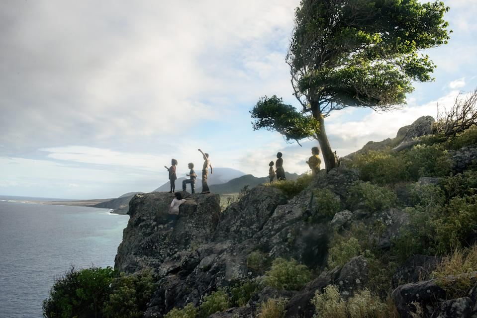 """An island Neverland is the home to Peter (Yashua Mack, left) and the Lost Boys in """"Wendy."""""""