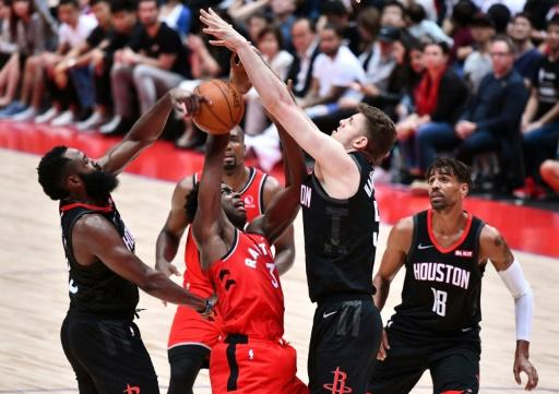 The Houston Rockets (in black) were in Japan when the row erupted