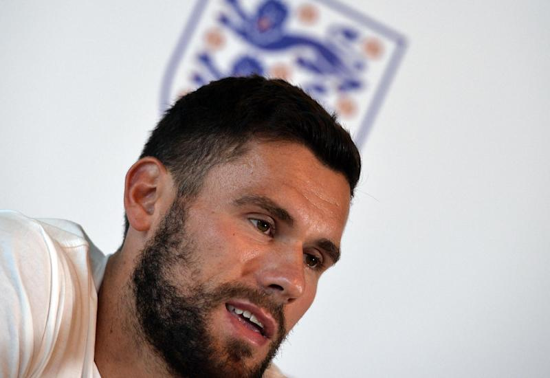 England goalkeeper Ben Foster answers questions during a press conference at Four Seasons Hotel in Miami, Florida on June 2, 2014