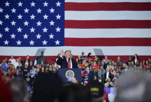 US President Donald Trump -- who frequently attacks the press -- skipped the 2018 White House correspondents dinner, opting instead for a rally in the small town of Washington, Michigan