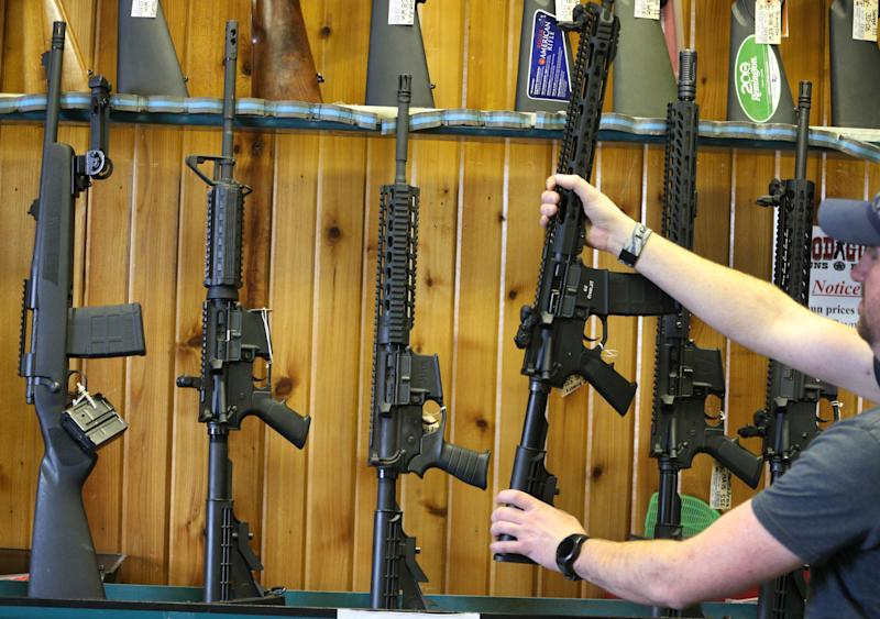 AR-15s for sale on Feb. 15, 2018 in Orem, Utah. (George Frey/Getty Images)