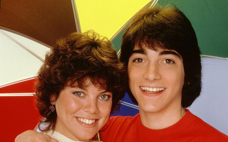 Baio, right, with his Joannie Loves Chachi co-star Erin Moran, who is not involved in the scandal - Rex Features