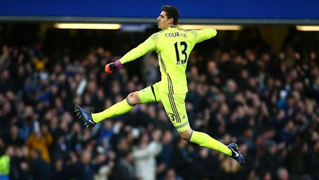 <p>There can only be one choice between the posts, and it is Thibaut Courtois. The Belgian stopper has been in inspired form for Chelsea, and despite often having very little to do he has always been ready when called upon. </p> <br><p>In contrast Pep Guardiola's best goalkeeper is currently playing for Torino, whilst Claudio Bravo continues his transformation into Rob Green. Willy Caballero has been reasonable since taking over as City's number one, but he is a long way off Courtois' level.</p>