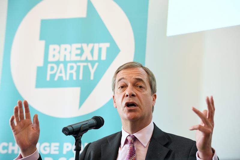 Brexit Party leader Nigel Farage says no deal is the only way to leave the EU (Picture: PA)