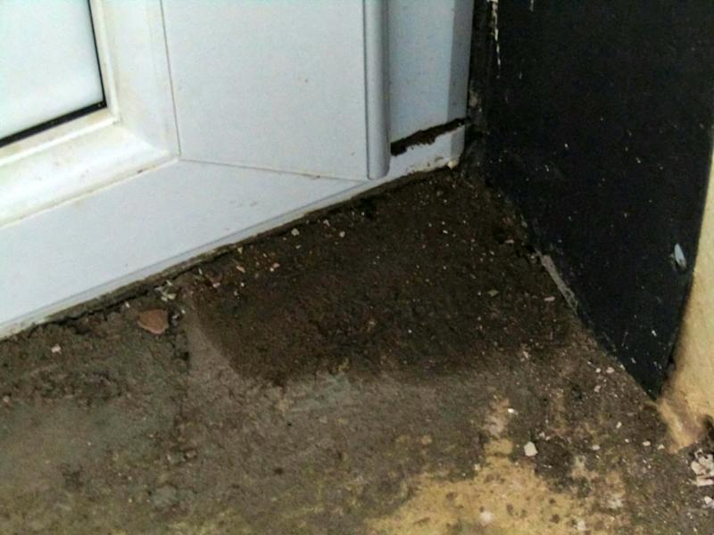 The couple said the builders also urinated against an outside wall. (SWNS)
