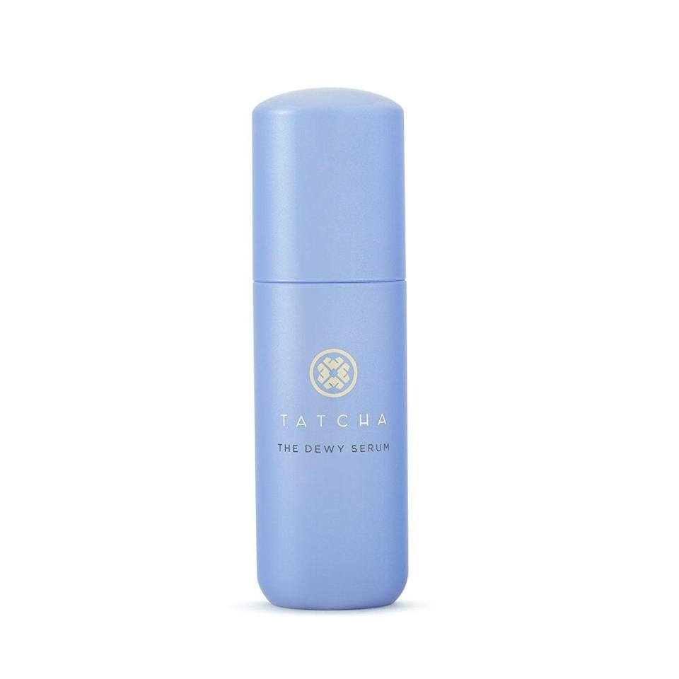 "<h2>Tatcha The Dewy Serum Resurfacing and Plumping Treatment</h2><br>Hyaluronic acid and squalene are the hydrating heroes of this formula, which also works overtime to help shed dead skin and dullness thanks to lactic acid. Smooth on a healthy amount before bed and wake up looking like you were the inspiration for the term ""<a href=""https://www.refinery29.com/en-us/2019/12/8467871/glass-skin-facial-south-korea-mi-anne-chan"" rel=""nofollow noopener"" target=""_blank"" data-ylk=""slk:glass skin"" class=""link rapid-noclick-resp"">glass skin</a>.""<br><br><strong>Tatcha</strong> The Dewy Serum Resurfacing and Plumping Treatment, $, available at <a href=""https://go.skimresources.com/?id=30283X879131&url=https%3A%2F%2Fwww.sephora.com%2Fproduct%2Ftatcha-the-dewy-serum-resurfacing-plumping-treatment-P466155%3Fcountry_switch%3Dus%26lang%3Den%26skuId%3D2406858%26om_mmc%3Dppc-GG_1918213323_70847773136_pla-420130049231_2406858_353573795417_9073479_c%26ds_rl%3D1261471%26gclid%3DCjwKCAiAxp-ABhALEiwAXm6IyX1VJ9CLebP3L8kz_H1ZWBRJFtoCsUR2Vix3qcNRGIv2x5le1hMa7BoC2nUQAvD_BwE%26gclsrc%3Daw.ds"" rel=""nofollow noopener"" target=""_blank"" data-ylk=""slk:Sephora"" class=""link rapid-noclick-resp"">Sephora</a>"