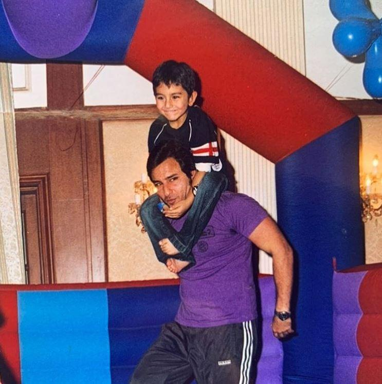 Saif Ali Khan and Ibrahim Ali Khan