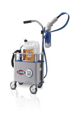 Clorox and Walmart Canada have joined forces to continue to support the well-being of customers and associates. Walmart has rolled out 640 state-of-the-art Clorox Total 360® Systems to disinfect carts and vestibules in more than 400 stores across the country. (CNW Group/Clorox Professional Products Canada)