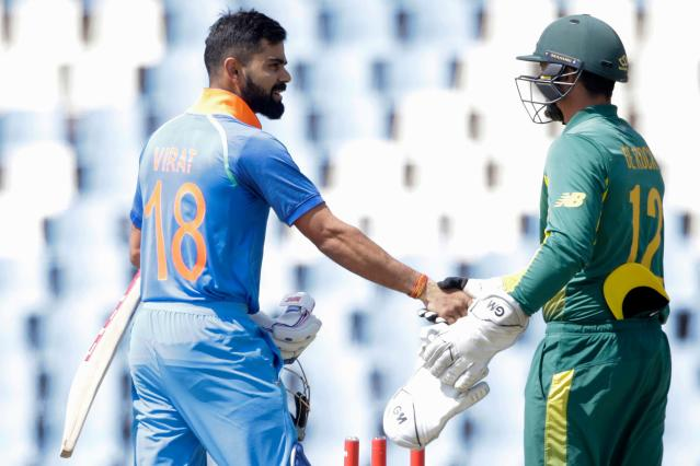 The cricket boards of India and South Africa agreed to reschedule a three-match One-Day International series to a later date. The first match on March 12 was washed out.