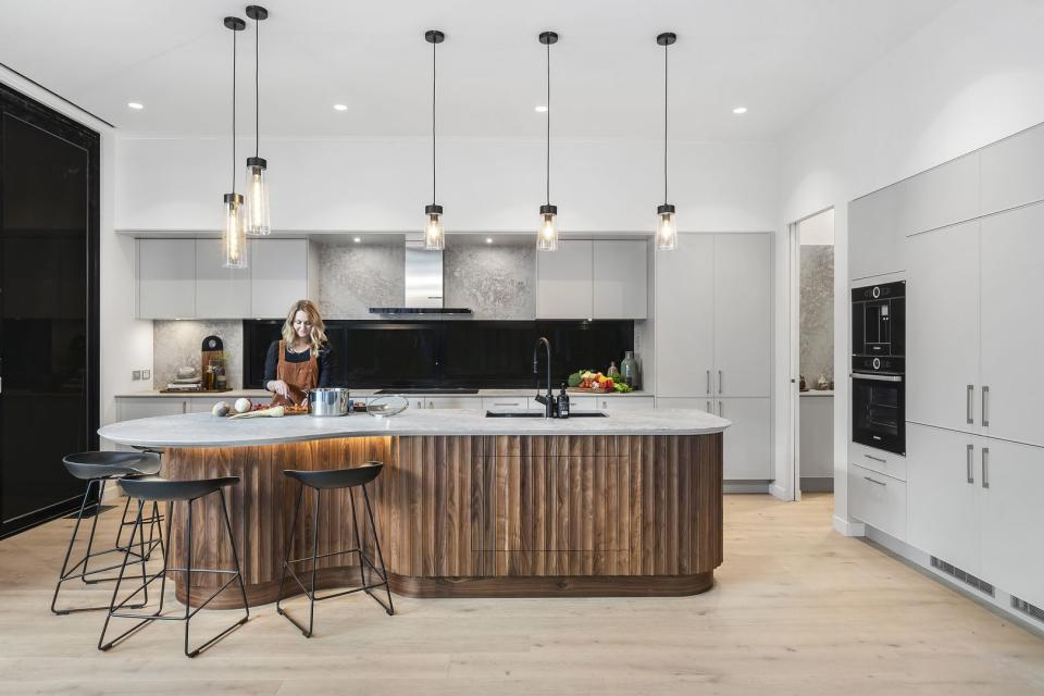 Daniel and Jade's kitchen on The Block. Photo: Domain