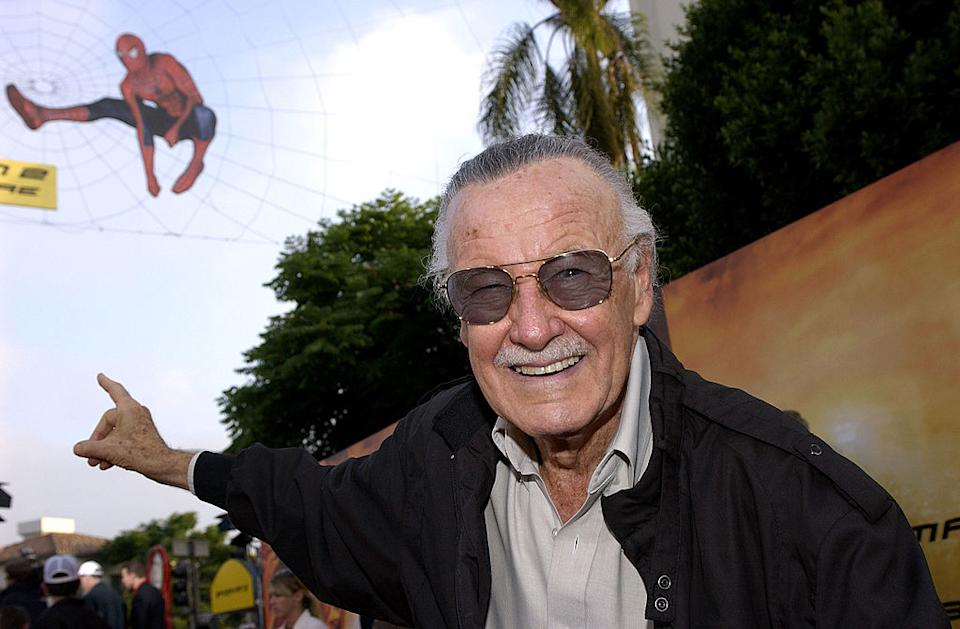 Stan Lee attends the premiere of