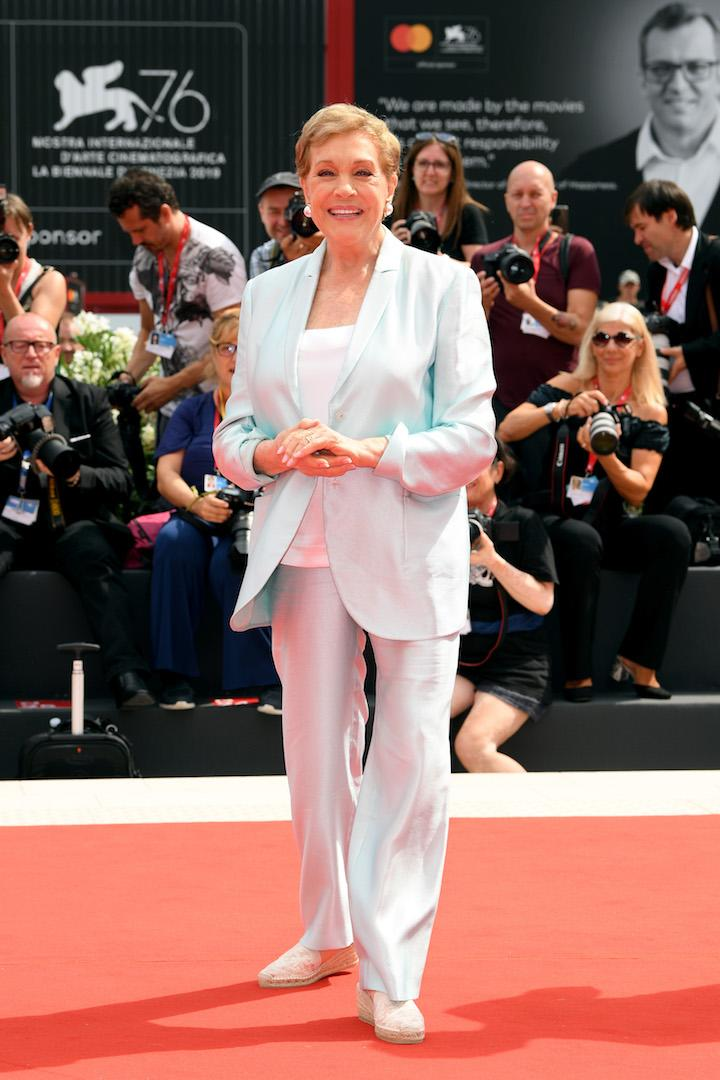 Julie Andews accepted the Golden Lion for Lifetime Achievement award in style in a powder blue co-ord. <em>[Photo: Getty]</em>