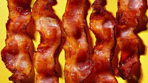 One pound of bacon is basically an entire package-worth of bacon.