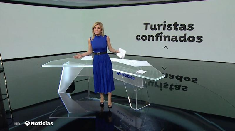 Sandra Golpe, en 'Antena 3 Noticias' (Photo: ANTENA 3)