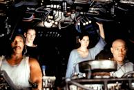 <p>Anthony Ray Parker, Keanu Reeves, Carrie-Anne Moss y Laurence Fishburne.</p>