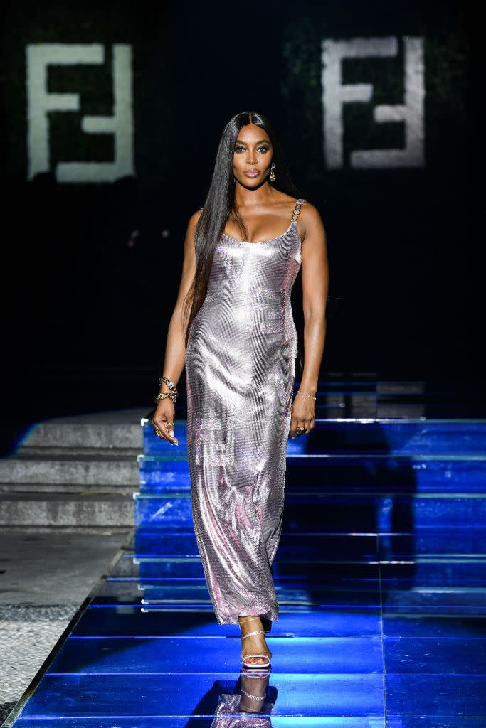 Naomi Campbell on the runway for Fendi by Versace. - Credit: Courtesy of Fendi