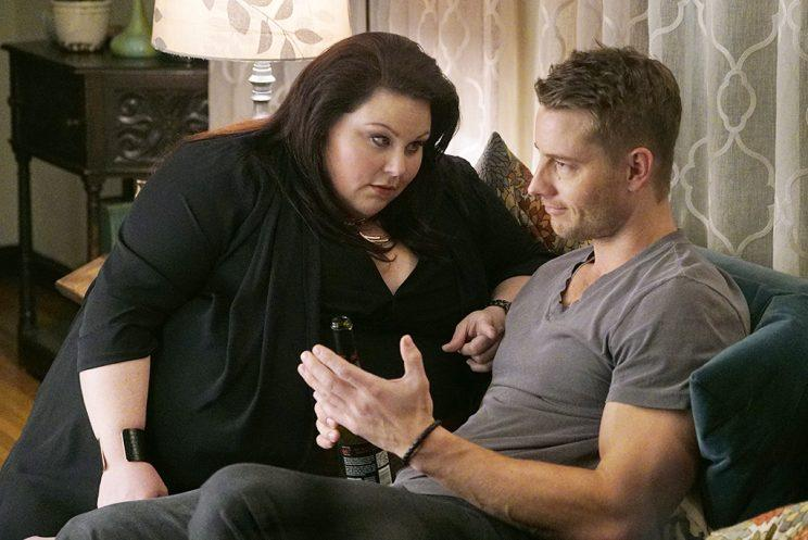 Chrissy Metz as Kate, Justin Hartley as Kevin (Photo by: Paul Drinkwater/NBC)