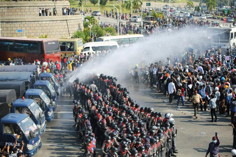 The junta has so far refrained from using deadly force to quell the demonstrations sweeping most of the country