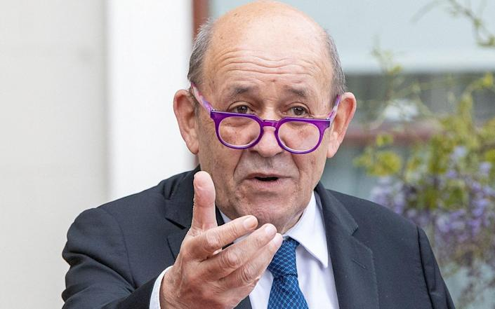 """French foreign minister Jean-Yves Le Drian said France is on """"high alert"""" for the Indian variant - PAUL FAITH/AFP"""