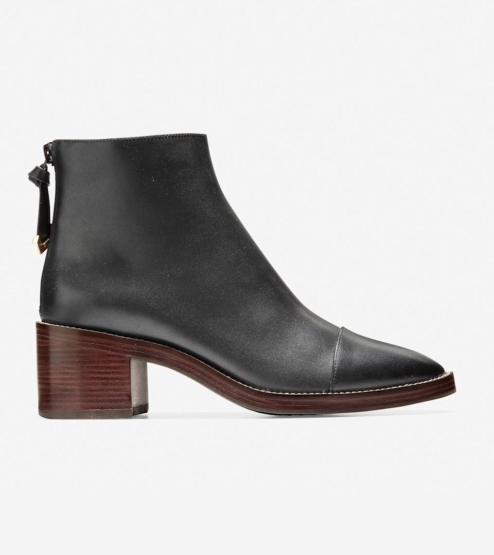 """<br><br><strong>Cole Haan</strong> Winnie Grand Bootie, $, available at <a href=""""https://go.skimresources.com/?id=30283X879131&url=https%3A%2F%2Ffave.co%2F3ofY2vT"""" rel=""""nofollow noopener"""" target=""""_blank"""" data-ylk=""""slk:Cole Haan"""" class=""""link rapid-noclick-resp"""">Cole Haan</a>"""