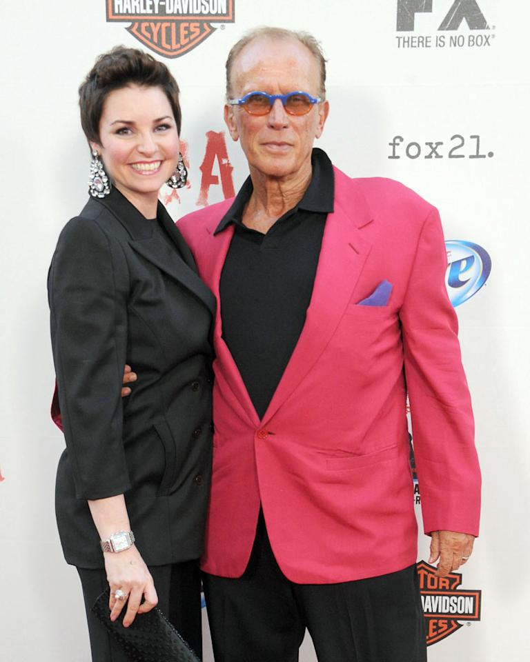 "Shari Stowe and Peter Weller attend the ""Sons of Anarchy"" Season 5 premiere screening at Westwood Village on September 8, 2012 in Los Angeles, California."