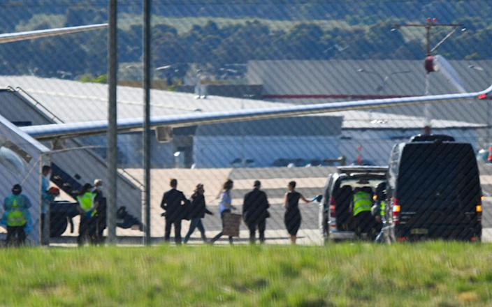 Kylie Moore-Gilbert disembarks from an Australian government jet after the prisoner swap - Lukas Coch/AAP image
