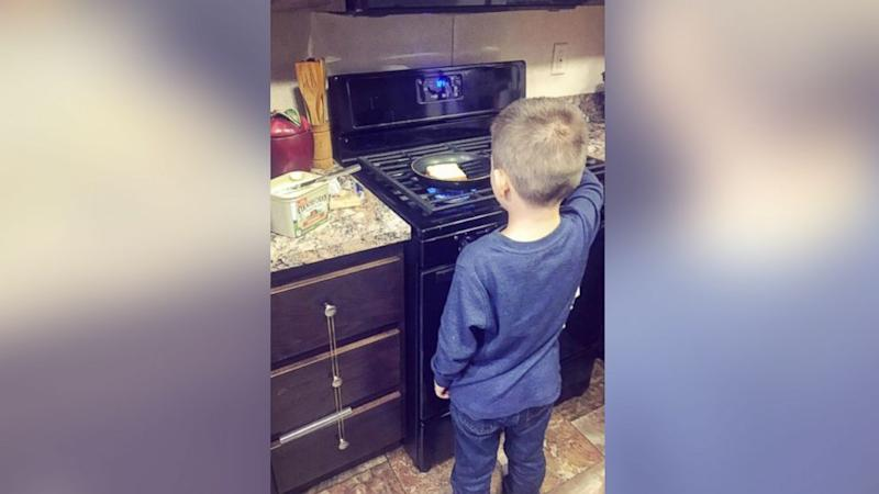 Mom Teaches Son Chores So He Learns They Are Not 'Just for Women'