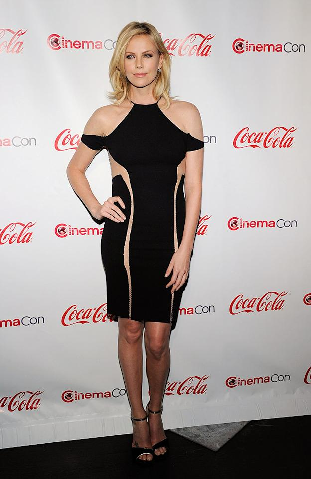 What do you make of the daring Dion Lee dress Charlize Theron wore to the CinemaCon Big Screen Achievement Awards? We think the Oscar winner is sophisticated enough to don such a revealing frock, but you may beg to differ. Discuss! (4/26/2012)
