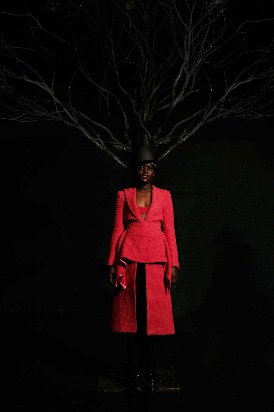 Thebe Magugu's look for the International Woolmark Prize