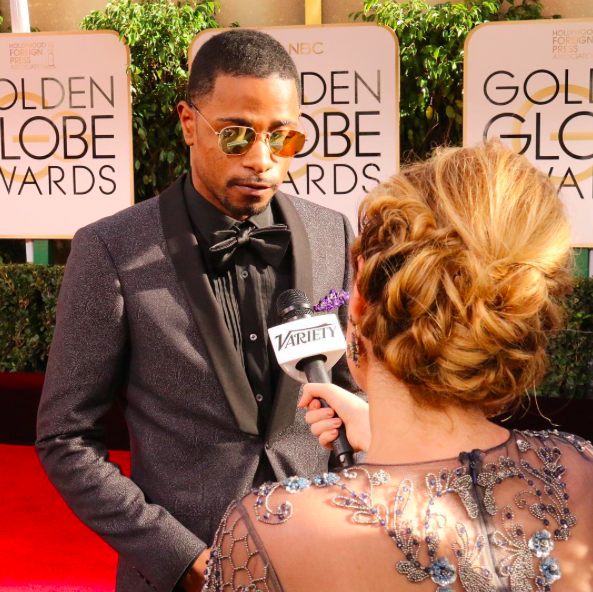 <p>Trying to stay cool just like @atlantafx star Keith Stanfield. #goldenglobes #lakeithstanfield @stanfield_keith </p>