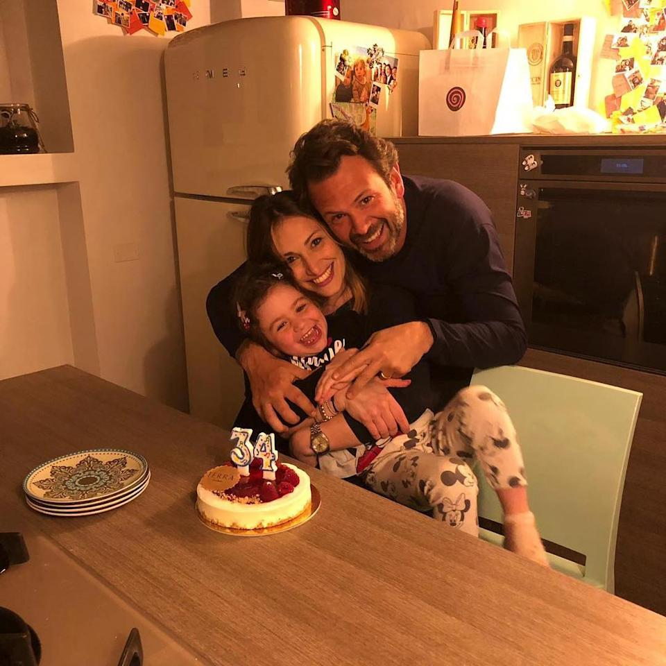 Fabrizio Martino Marchi, 40, with Valeria Coletta, 35, and their five-year-old daughter. Source: Newsflash/Australscope