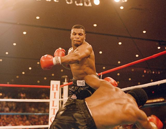 "<a class=""link rapid-noclick-resp"" href=""/nfl/players/30300/"" data-ylk=""slk:Mike Tyson"">Mike Tyson</a> was a superstar for HBO. (AP)"