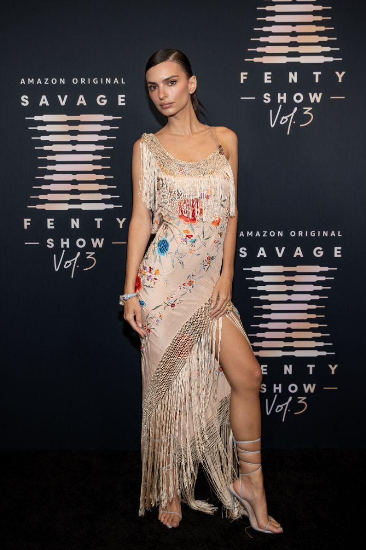 Emily Ratajkowski attends Rihanna's Savage X Fenty Show Vol. 3 presented by Amazon Prime Video at The Westin Bonaventure Hotel & Suites in Los Angeles, California; and broadcast on September 24, 2021. - Credit: Courtesy of Amazon