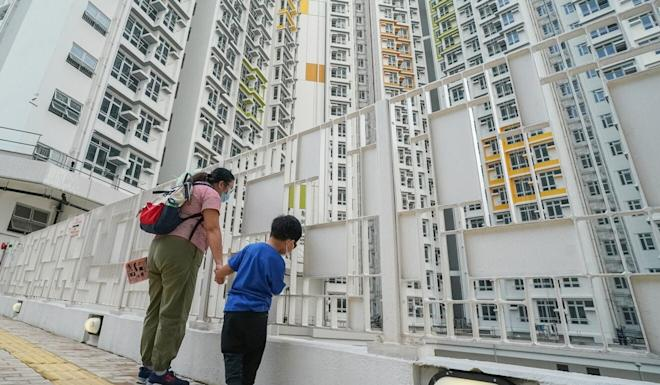 Flats in Chun Yeung Estate were designated for quarantine facilities earlier this year as the city struggled against Covid-19. Photo: Felix Wong