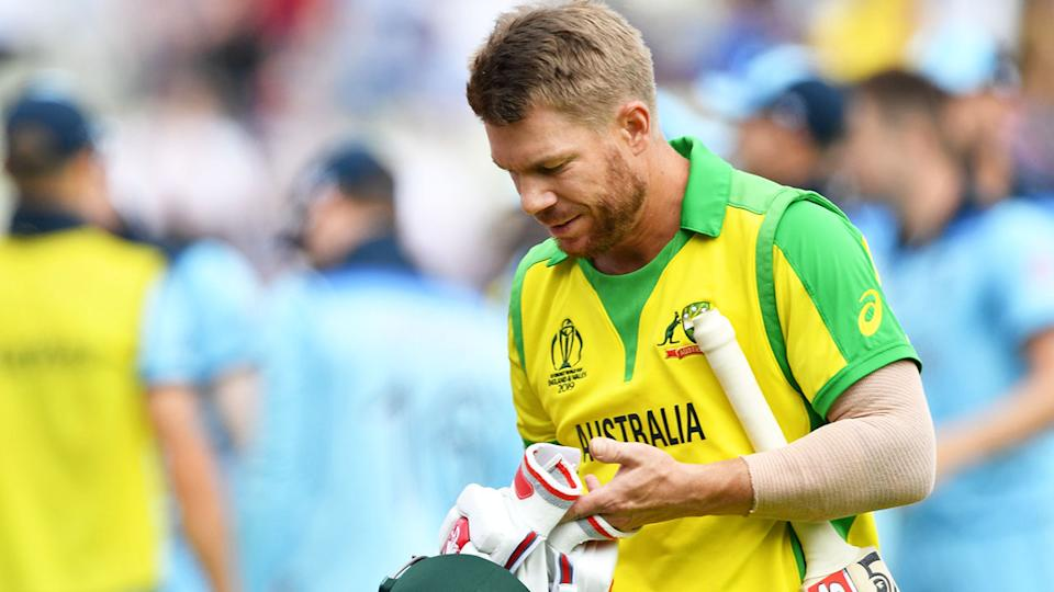 David Warner was booed before his innings, and as he walked off after being dismissed for nine runs.