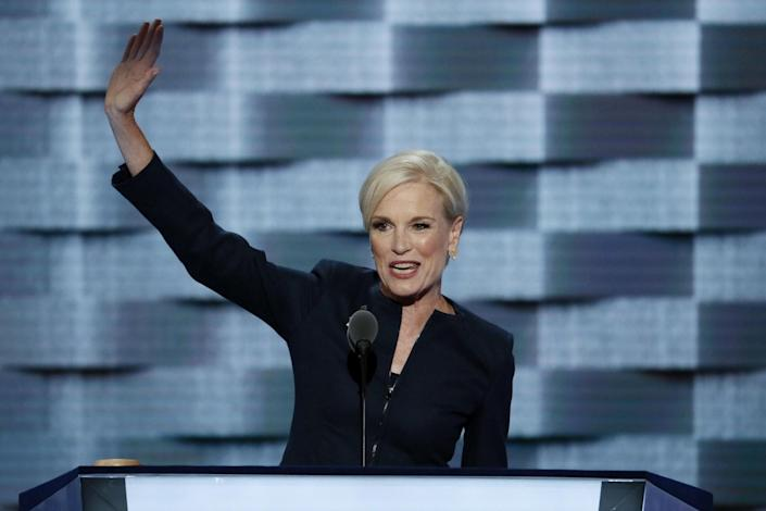 Cecile Richards, president of the Planned Parenthood Action Fund, waves after speaking on Tuesday at the Democratic National Convention. (Photo: J. Scott Applewhite/AP)