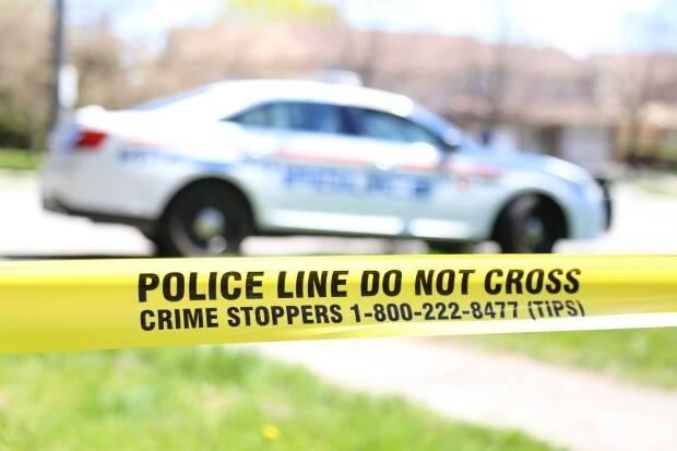 Emergency crews were called to Malaga Road between Park Road and Oxford Street for a serious collision involving a pedestrian, Durham Regional Police said in a tweet. (Durham Regional Police - image credit)