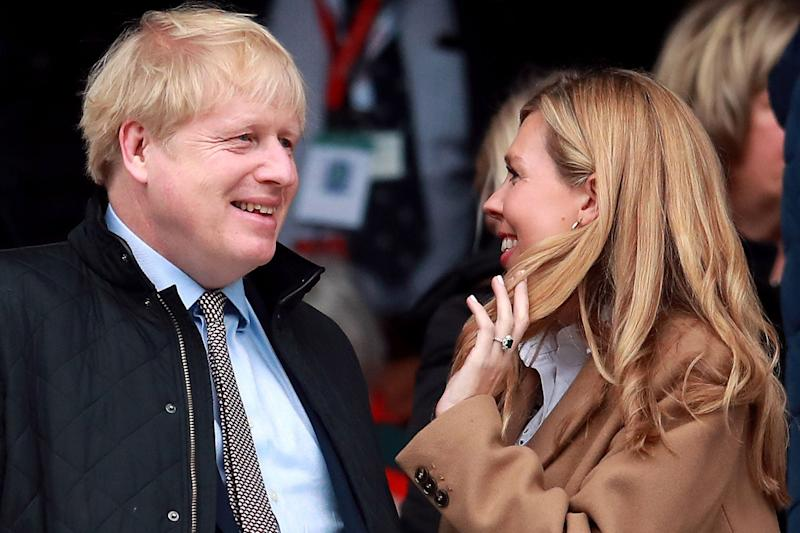 Boris Johnson's partner Carrie Symonds tweeted a string of clapping emojis as she joined in the Clap For Carers campaign at 8pm: PA