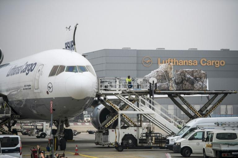 Frankfurt's cargo terminal has been working nonstop since the pandemic began, helping to delivering medicine, surgical gowns and masks