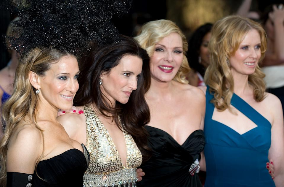 HBO is bringing back Sex and the City with Sarah Jessica Parker, Kristin Davis and Cynthia Nixon (pictured with Kim Cattrall, second from right, in 2010). (Photo: Samir Hussein/Getty Images)