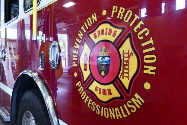 The Regina Fire and Protective Services says there was a spontaneous combustion fire on Sunday.  (Daniella Ponticelli/CBC - image credit)