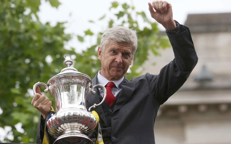 Arsene Wenger after Arsenal's 2015 FA Cup truimph - Reuters
