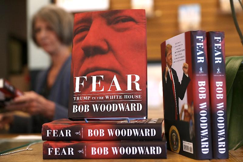 "The book ""Fear"" by Washington Post journalist Bob Woodward is one of three books on the Trump presidency to sell more than one million copies (AFP Photo/JUSTIN SULLIVAN)"