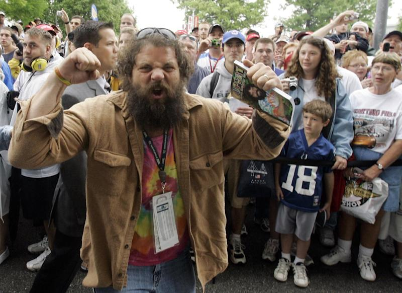 "FILE - In this May 27, 2007, file photo, Rupert Boneham, from the television show ""Survivor,"" pumps up the crowd before a race at Indianapolis Motor Speedway in Indianapolis.  Former reality TV star Rupert Boneham said he thinks he has a real shot at becoming Indiana's next governor after being nominated as a third-party choice Saturday, March 24, 2012.    (AP Photo/Rob Carr, File)"