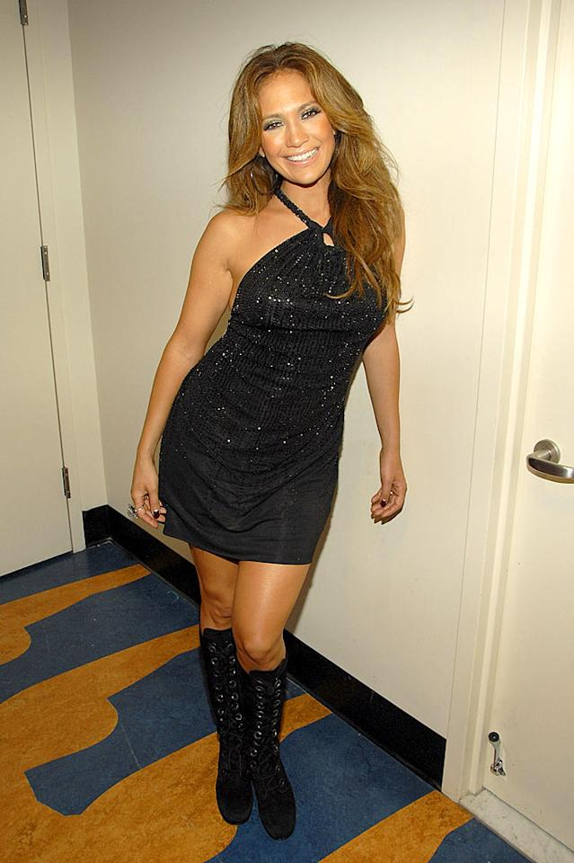 """Oh J.Lo! This outfit looks like it came from your Fly Girl days. Kevin Mazur/<a href=""""http://www.wireimage.com"""" target=""""new"""">WireImage.com</a> - September 6, 2007"""