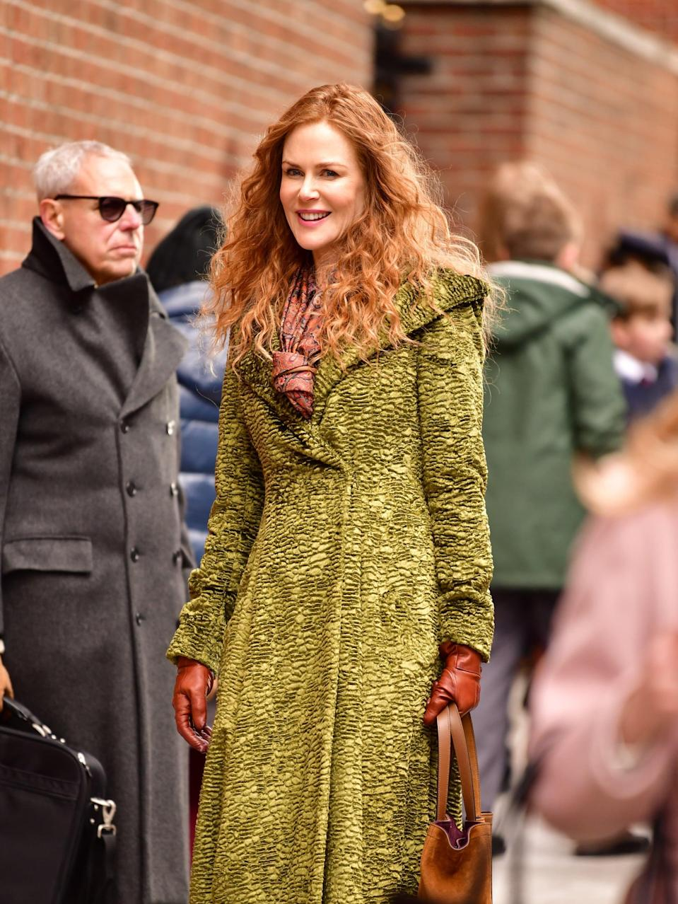 <p>Although Grace never wears it, the coat has a large hood, which gives it a witchy vibe of sorts. The Sanderson sisters have nothin' on Grace Fraser.</p>