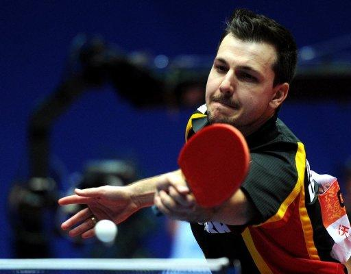 Germany's Timo Boll during a match at the World Team Table Tennis Championships in April. European champion Boll, 31, has competed at every Olympics since Sydney 2000 and is the only non-Asian in the men's or women's world top 10s