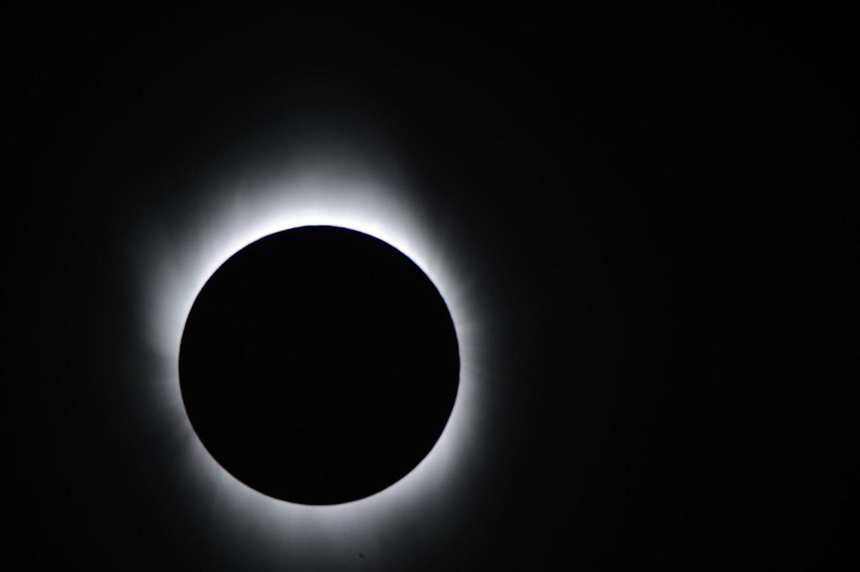 A total eclipse as seen from Asia: Getty Images